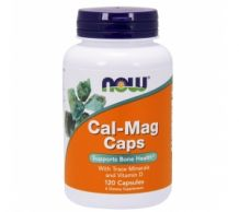 Poză NOW Cal-Mag 120 Softgels (D3, Zinc, Mg, Ca)