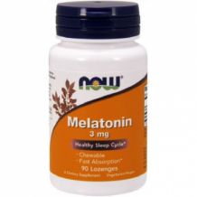 Poză NOW Foods Melatonin 3mg 60 caps