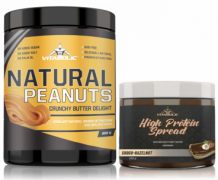 Poză PACHET Natural Peanuts Crunchy Butter Delight +High Protein Spread